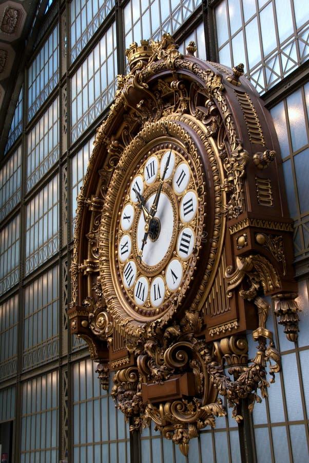 Clock at Musee D'Orsay stock images