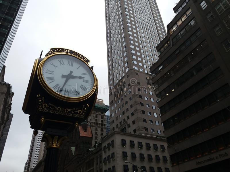 Clock near Trump Tower royalty free stock images