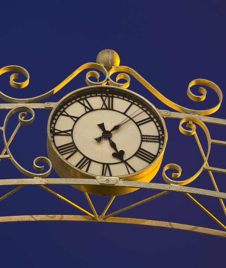 Clock At Night Stock Image