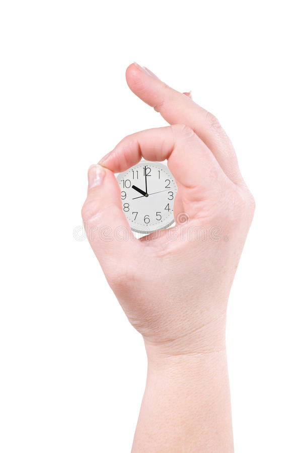 Clock And Palm Royalty Free Stock Photo