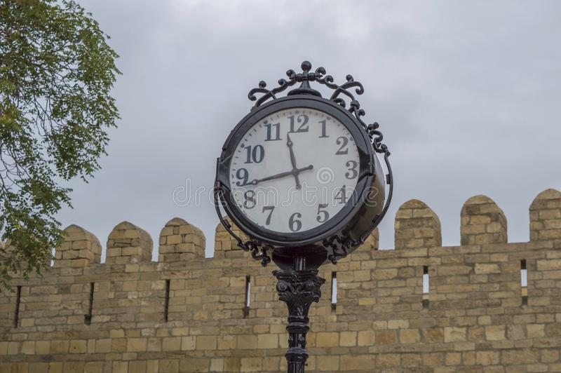 Clock. In park royalty free stock photos