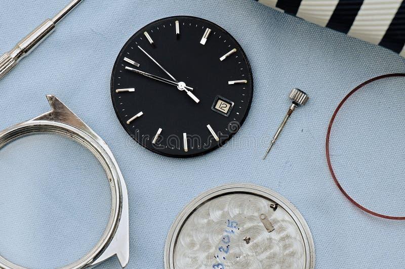 Clock parts. royalty free stock photography