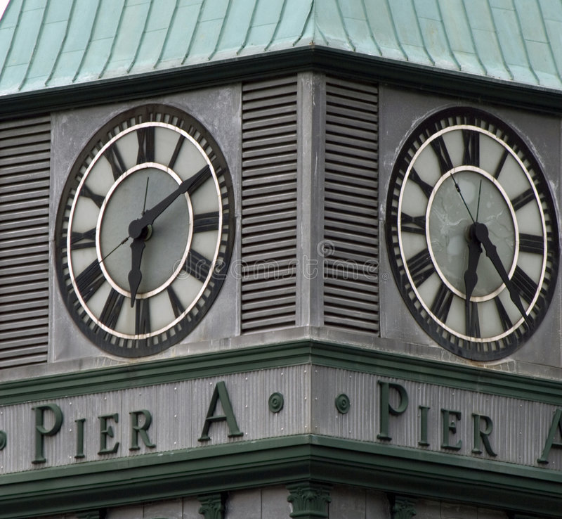 Download Clock On Pier A Tower, Battery Park, New York City Stock Photo - Image of states, dials: 1699598