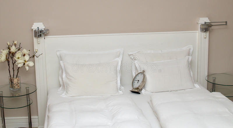 Clock on Pillows stock images