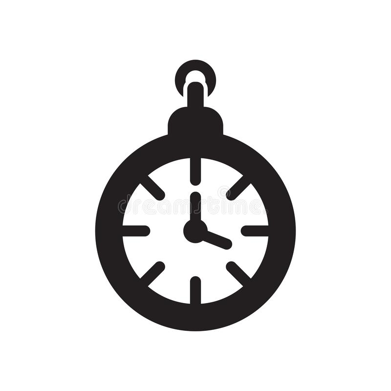Clock pointing four o 'clock icon vector sign and symbol isolated on white background, Clock pointing four o 'clock logo concept vector illustration