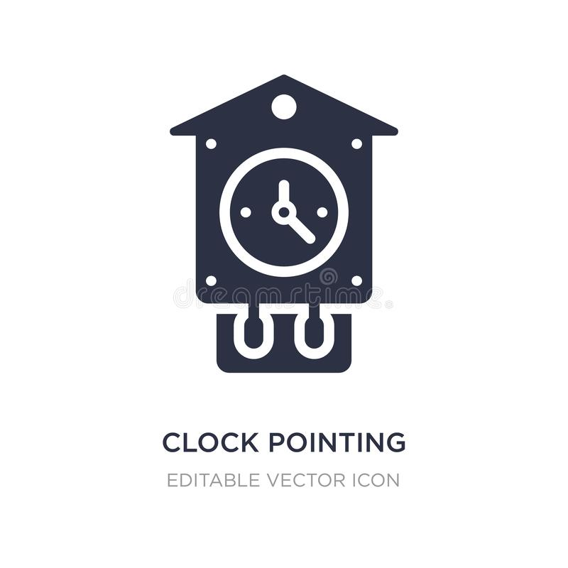 clock pointing four o 'clock icon on white background. Simple element illustration from Other concept vector illustration