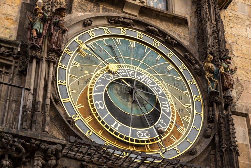 Clock Prague stock photo