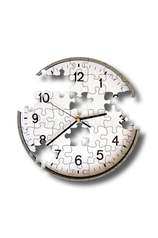 Clock Puzzle Royalty Free Stock Images
