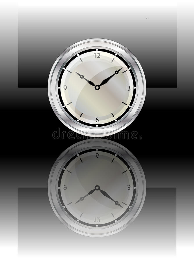 Clock Reflected Stock Image