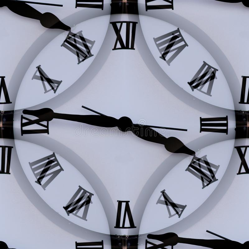 Clock with roman numerals abstract texture. stock photography