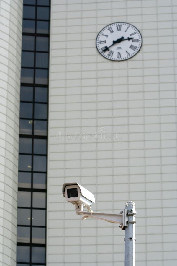 clock round supervision arkivbild