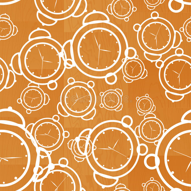 Download Clock Seamless Wooden Background Stock Vector - Image: 13077685