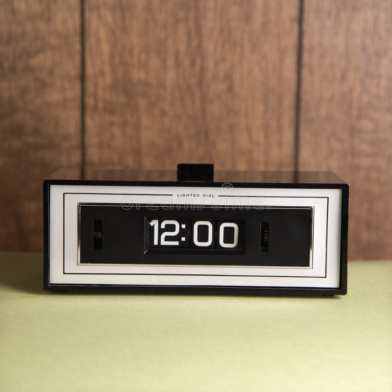 Clock set for 12:00. royalty free stock image