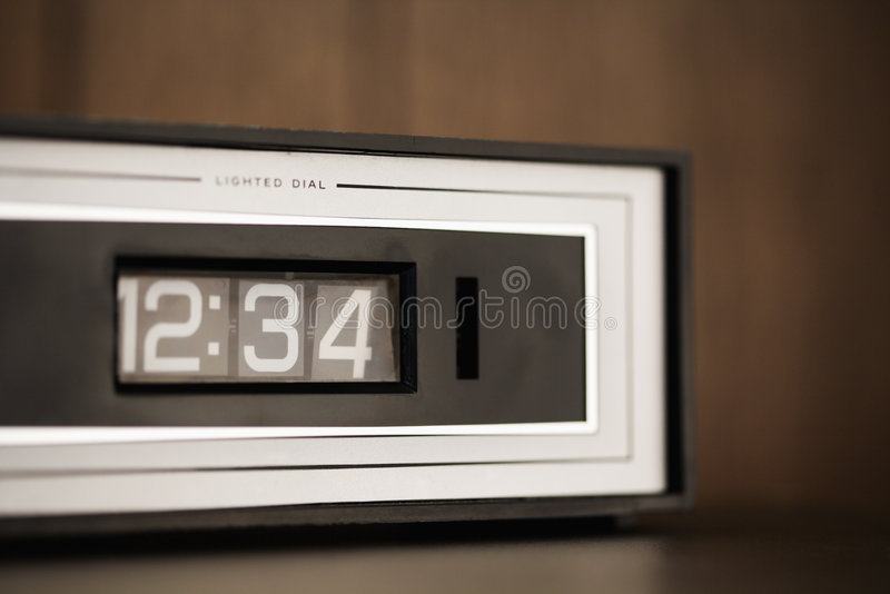 Clock set for 12:34. royalty free stock photos