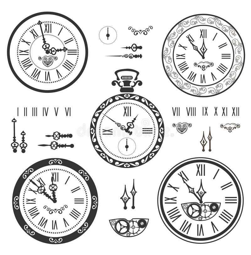 Clock set stock photo