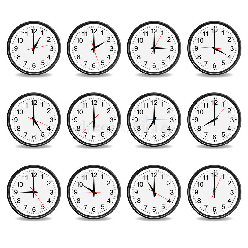 Clock that show every hour vector vector illustration