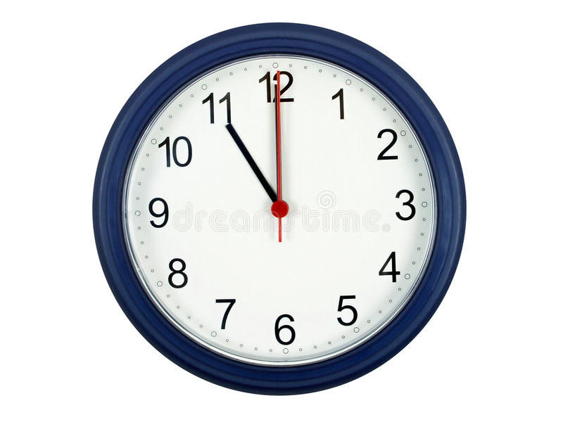 Download Clock showing 11 o'clock stock image. Image of face, business - 305389
