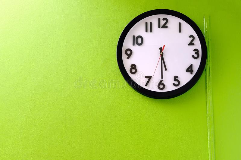 Clock showing 5.30 o'clock stock image