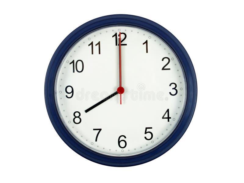 Clock showing 8 o'clock royalty free stock photography