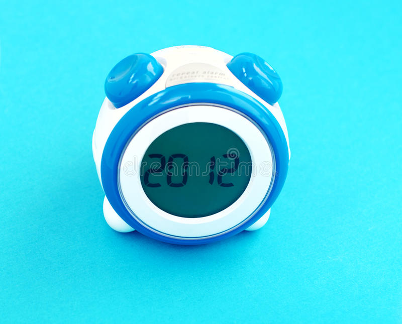 Download Clock shows 2012 stock photo. Image of watch, blue, shows - 22144414