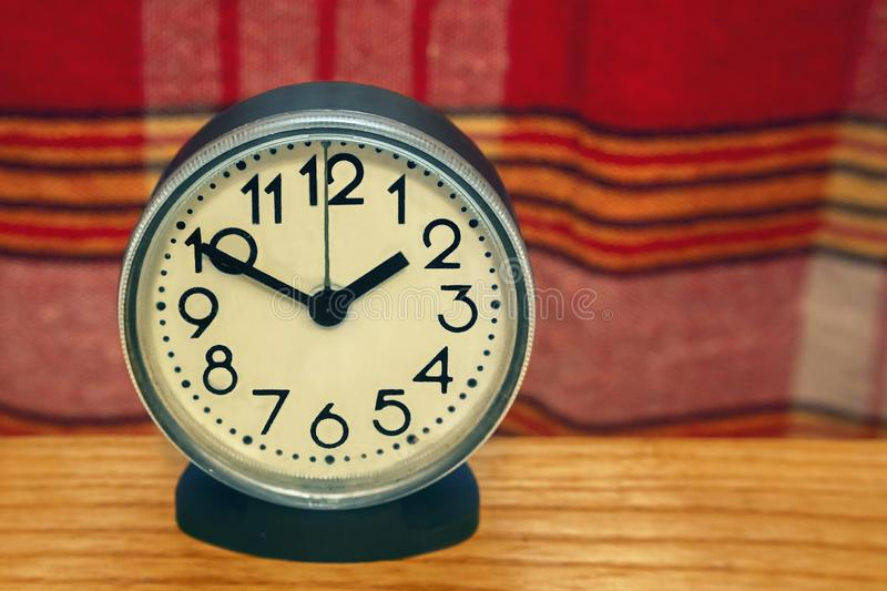 The clock that shows the time stock photo