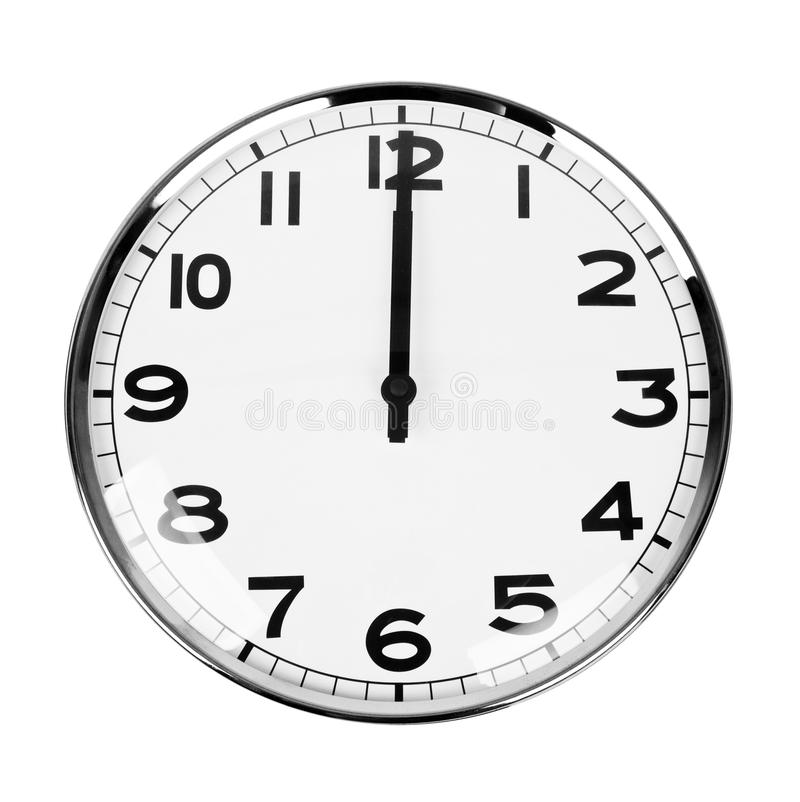 Clock Sign 12 O Clock Royalty Free Stock Photo