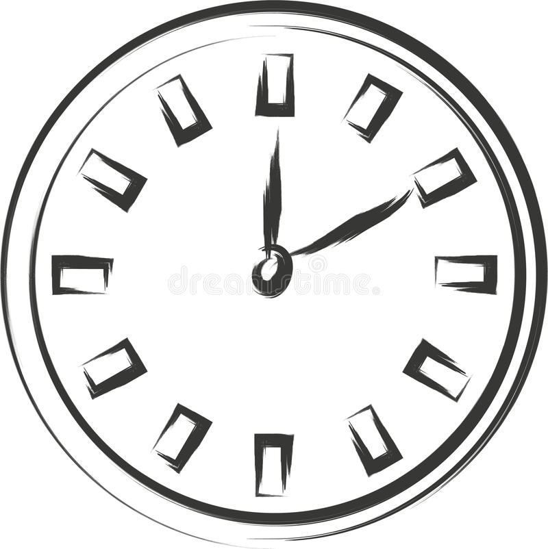 Free Clock Sketch Royalty Free Stock Photography - 32310207
