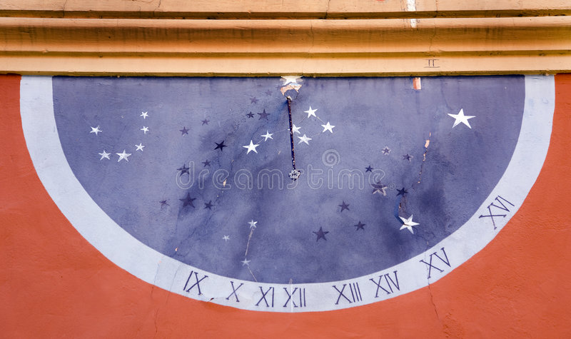 Clock solar stock photography