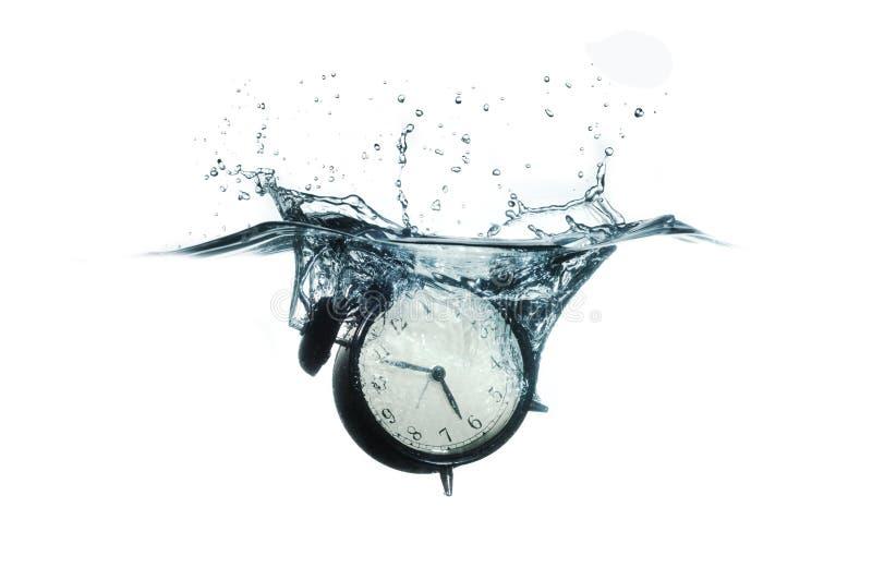Clock Splash royalty free stock photography