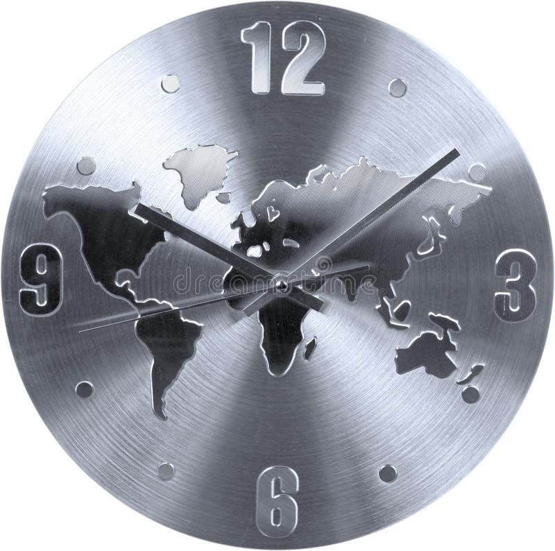 Stainless clock with world map sign isolated stock photo image of download stainless clock with world map sign isolated stock photo image of design face gumiabroncs Images