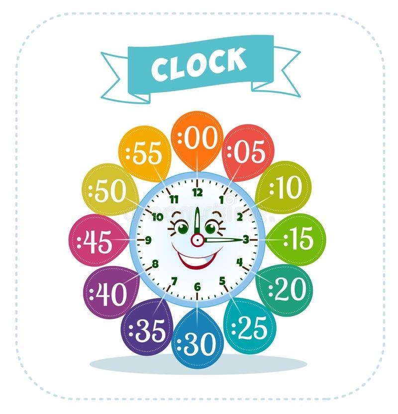 clock sticker game for children stock illustration image 68463653. Black Bedroom Furniture Sets. Home Design Ideas