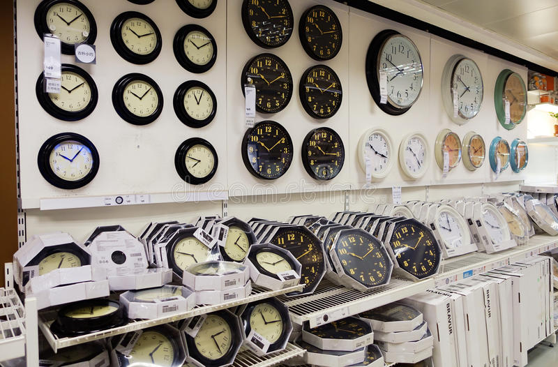 clock store retail shop royalty free stock image