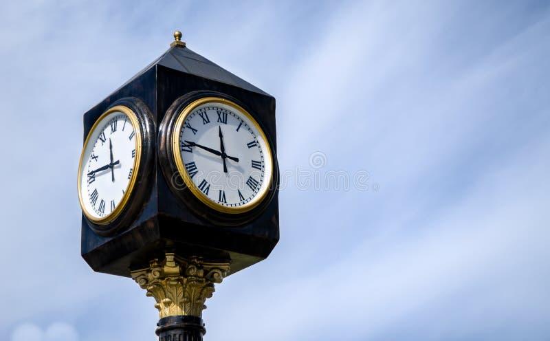 Clock In The Street Stock Photos