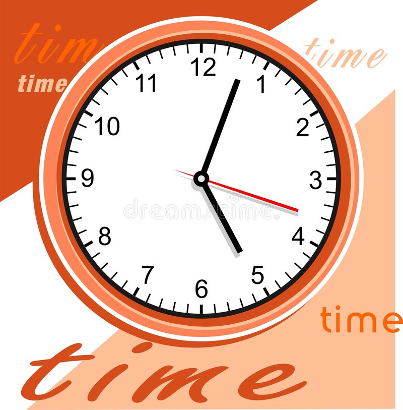 Clock of time stock illustration