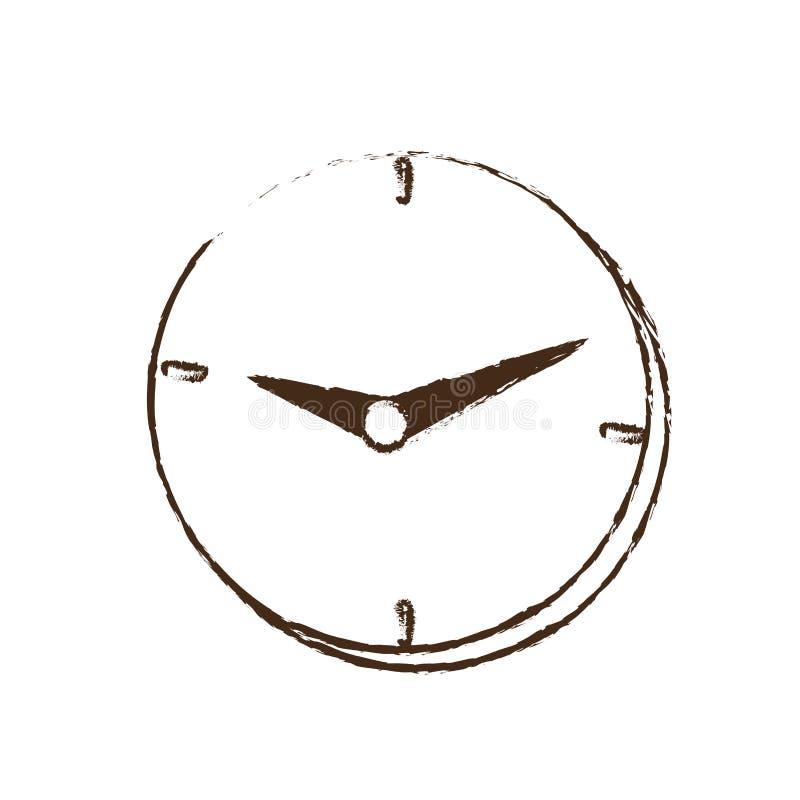 clock time business money design sketch stock illustration