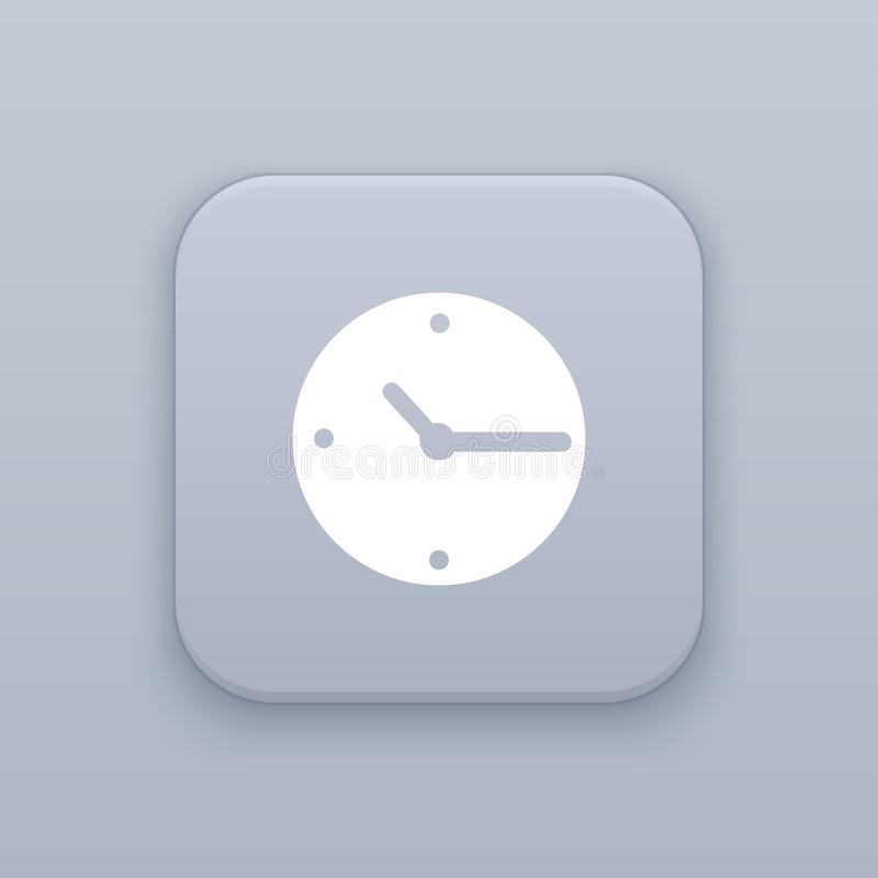 Clock, time button, best vector. On a gray background vector illustration