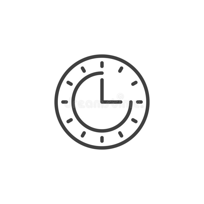 Clock time line icon royalty free illustration