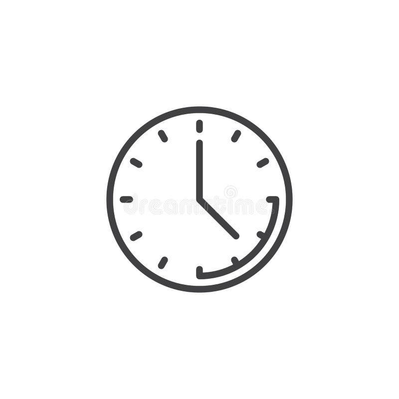 Clock time line icon stock illustration