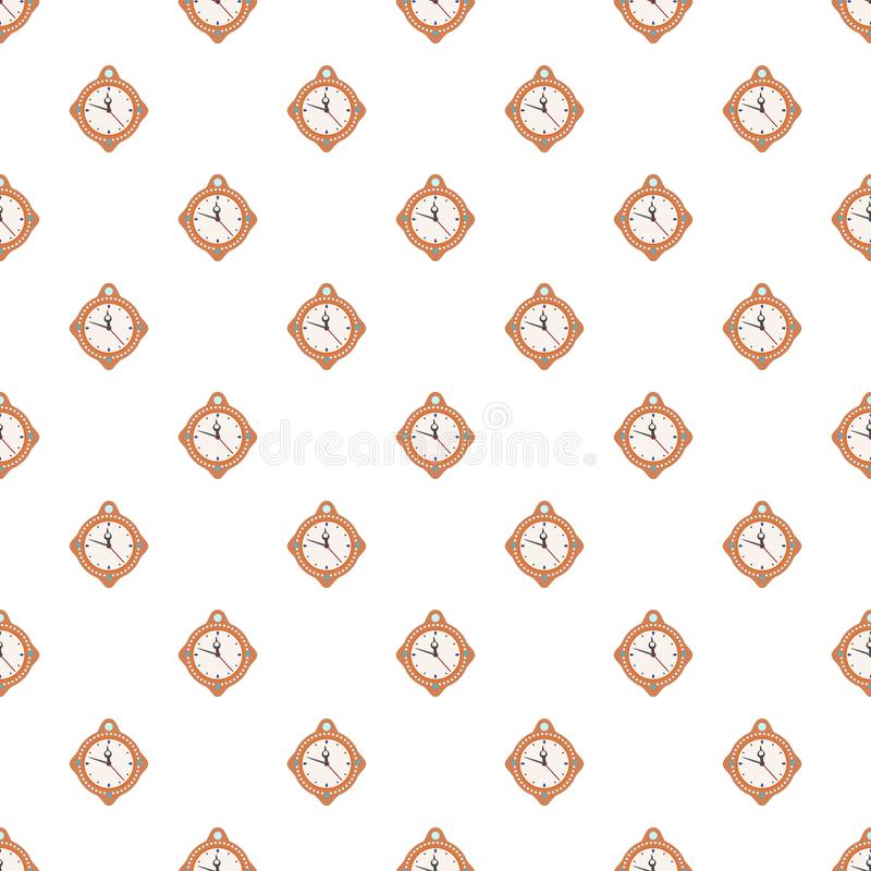 Clock time new year pattern seamless vector. Repeat for any web design vector illustration