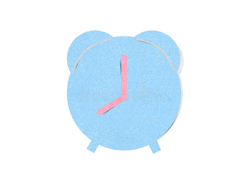 Clock time paper craft on white