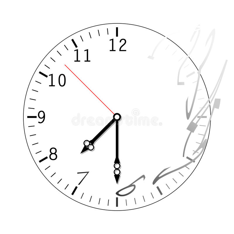 Clock time is running out. Icon clock time is running out stock illustration