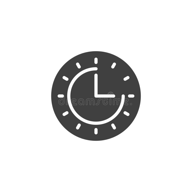 Clock time vector icon royalty free illustration