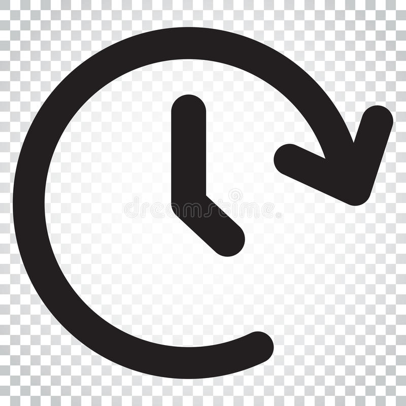 Clock time vector icon. Timer 24 hours sign illustration. Business concept simple flat pictogram on isolated background. royalty free illustration