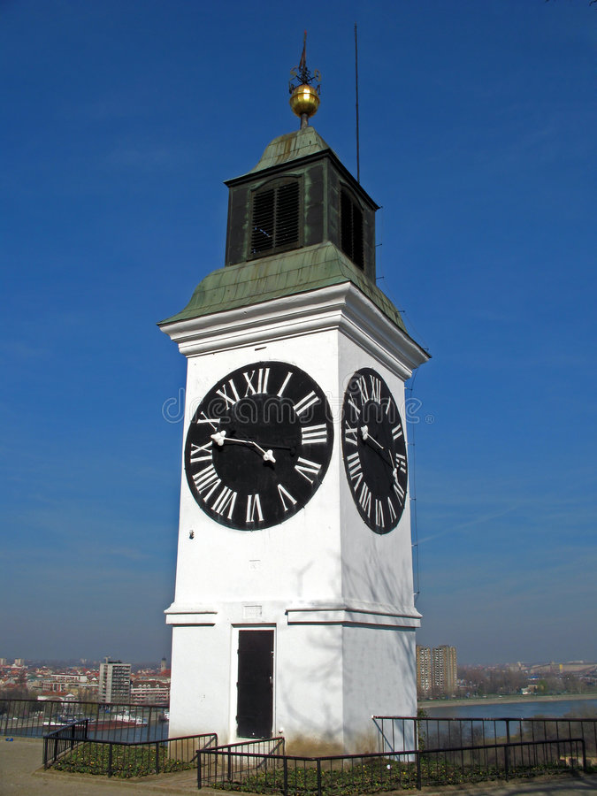 Download Clock tower stock image. Image of time, clock, serbia - 2255599