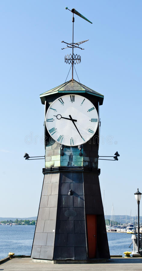 Download Clock tower stock image. Image of fjord, clock, norway - 24928177
