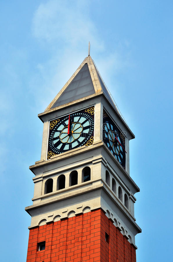 Download Clock tower stock image. Image of brick, color, time - 25272233