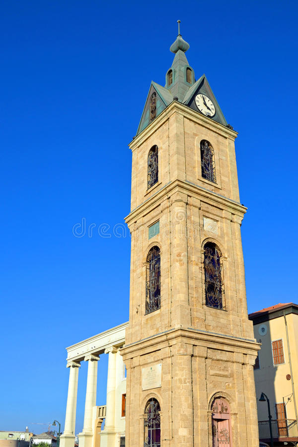 Download Clock tower stock photo. Image of clock, landmark, jaffa - 27771702