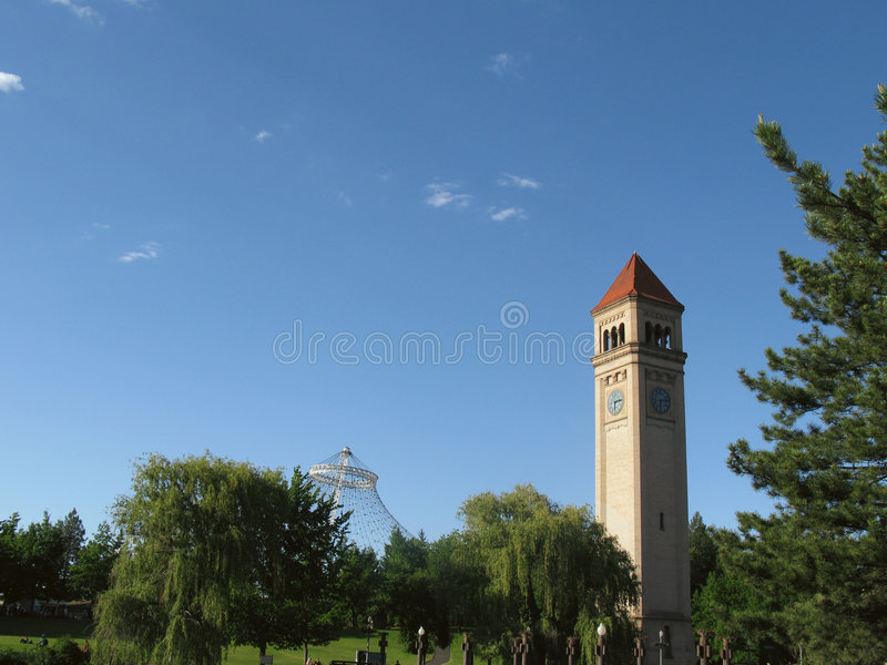 Download Clock Tower stock photo. Image of time, green, riverfront - 5571242