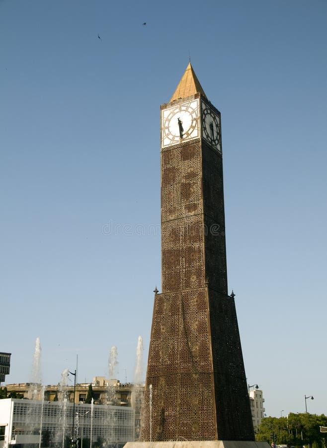 Download Clock Tower Avenue Habib Bourguiba Tunisia Stock Image - Image: 26133729