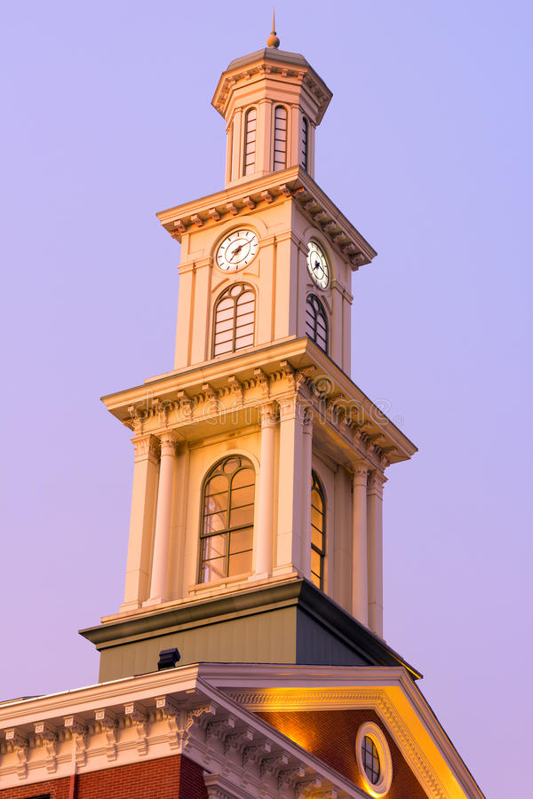 Download Clock Tower In Baltimore Downtown In The Early Winter Morning. Stock Photo - Image: 41076672
